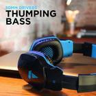 Boat Rockerz 510/518 Wireless Bluetooth Headphones (Jazzy Blue, Over The Ear)
