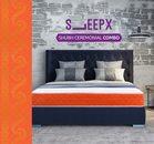 SleepX Shubh Ceremonial Combo Dual Mattress - Medium Soft and Hard Foam with 2 Super Pillows, 100% Fine Cotton Bedsheet Reversible Luxurious Comforter