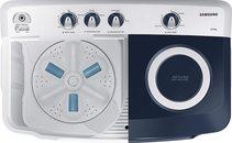 Samsung 8.5 Kg Semi-Automatic 5 Star Top Loading Hexa Storm Pulsator Washing Machine (Light Grey, Royal Blue Lid (Transparent))