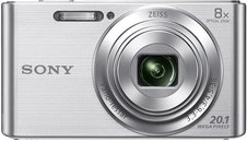 Sony DSC-W830/S Cybershot 20.1MP Point & Shoot Digital Camera (Silver) with 8X Optical Zoom and Case