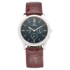 Titan Retrograde Black Dial Leather Strap Watch