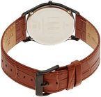Titan Edge Brown Dial Leather Strap Watch