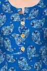 Deep Fashions Women Ethnic Blue Festive Kurtas