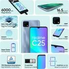Realme C25 (4 GB, 64 GB, Watery Blue, 6000 mAh)