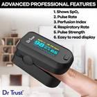 Dr. Trust (USA) Model 210 FingerTip Oxy meter Finger Oxygen Saturation Heart Rate Monitor Pulse Oximeter (Black)